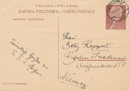 WARSZAWA - 1938 , Post Card - Stamped Stationery