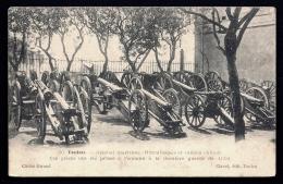 CPA ANCIENNE- MILITARIA- LES CANONS- TOULON- CANONS ET MITRAILLEUSES CHINOIS PRIS A L'ENNEMI EN 1901- GROS PLAN- - Ausrüstung