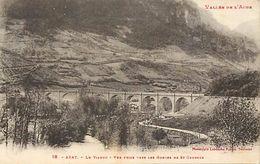 """- Dpts Div.-ref- PP430 - Aude - Axat - Le Viaduc - Viaducs -  Edit. Labouche N°18 - Serie """" Vallee De  L Aude """" - - Axat"""