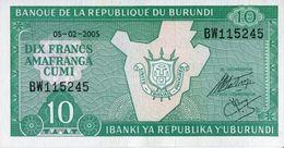 Burundi 2005, 10 Francos (UNC) - CF7595 - Burundi