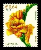 Latvia 2017 Mih. 1010 Flora. Flowers. Freesia MNH ** - Lettonie