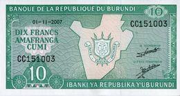 Burundi 2007, 10 Francos (UNC) - CF7624 - Burundi