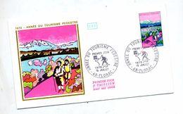 Lettre Fdc 1972 Florac Randonnee Pedestre - 1970-1979