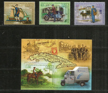Histoire De La Distribution Du Courrier à Cuba Depuis 1750, Série 4 Timbres + Bloc-feuillet Neufs ** - Post