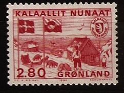 Danemark Groenland Grønland 1986 N° 151 ** Administration Postale, Port, Huttes, Traîneau, Drapeau, Chiens, Musher, Ours - Ongebruikt