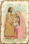 -themes Div- Ref R369- Images Religieuses -religions - Christianisme -gaufré Et Tissu En Relief - Bon Etat - - Devotion Images