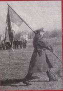 POSTCARD THE COMMANDER OF THE REGIMENT 223 MOTORIZED PARADE WITH THE FLAG OF BATTLE ROMANIA UNUSED - Romania
