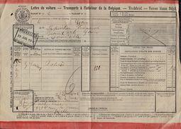 LETTRE DE VOITURE - 1902  GAND > ST JOSSE TEN NOODE - Biennale Exposition Beaux Arts Gand - Poterie - Chemins De Fer