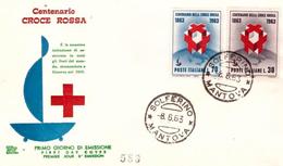 Fdc Chimera : CROCE ROSSA 1963 ; No Viaggiata; A_Solferino - F.D.C.