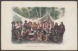 Getting Ready For The Pow Wow, 1903 - HH Tammen U/B Postcard - Native Americans