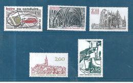 France Timbres De 1981  N°2159 A 2163  Neufs ** Vendu Prix De La Poste - Ungebraucht
