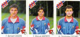 3 Images Vache Qui Rit Joueurs De Foot équipe De France 1992. - Autres Collections