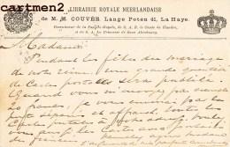 Den Haag 's-Gravenhage LIBRAIRIE ROYALE NEERLANDAISE M.M. COUVEE LANGE POTEN 41 LA HAYE NEDERLAND PUBLICITY - Periode 1891-1948 (Wilhelmina)