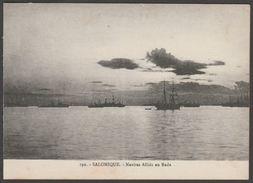 Navires Alliés En Rade, Salonique, Grèce, C.1910s - Postcard CPA - Greece