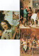 3 Maximumkaarten Zegel Nr.2395-95  Belgische Kunstwerken In Het Buiteland - Maximum Cards