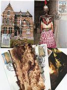 5 Maximumkaarten Zegel Nr.2410-14  Toeristischeaximumkaarten Zegel Nr.2395-95  Belgische Kunstwerken In Het Buiteland - Maximum Cards