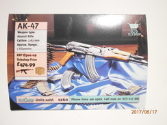 Postcard AK47 Assault Rifle Amnesty International Million Faces Petition Against The Arms Trade  My Ref B21352 - Satirical