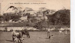 Montreuil-Bellay Animée Le Faubourg Des Ardennes Vaches - Montreuil Bellay