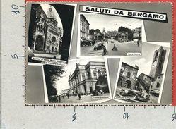 CARTOLINA VG ITALIA - Saluti Da BERGAMO - Panorama - Vedutine - 10 X 15 - ANN. 1956 - Bergamo