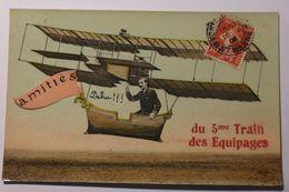Cpa Papier Brillant Amitiés Du 5me Train Des équipages - Couleur 1908 - TOL01 - Umoristiche