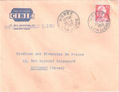 3999 Enveloppe Entête PROJECTEURS CIBIE Automobile St Hilaire La Gravelle Ob Morée Loir Et Cher 1959 Muller 25F Yv 1011C - Automobile