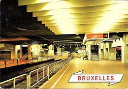 Bruxelles (1000) : Métro De Bruxelles, En Version Prémétro - Ligne 2, Station Louise. CPSM. - Vervoer (ondergronds)