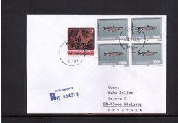 Makedonien / Macedonia 1994 Interesting Registered Letter - Macedonia