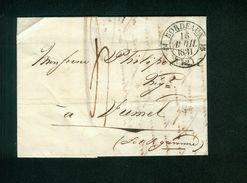 Brief 16. April 1831 Von Bordeaux Nach Fumel, Lot Et Garonne, Gelaufen (B1) - Marcophilie (Lettres)