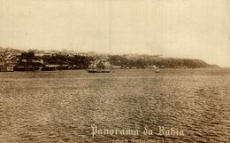 Rppc   Panorama Da Bahia San Salvador 1900 Real Photo Postcard - El Salvador