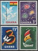 Ghana Dominion Britanique 1960 N°64-67  NMH, 3° Anniversaire De L'indépendance (E15) - Ghana (1957-...)