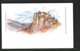 Lithographie Ljubljana / Laibach, Vue De Das Château Veldes - Slovenia