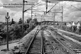 Gare De Conflans-Sainte-Honorine Bifurcation à L'Ouest , Yvelines - Carte Photo Moderne - Bahnhöfe Ohne Züge