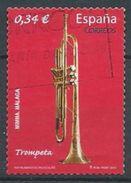 ESPAGNE SPANIEN SPAGNA SPAIN ESPAÑA 2010 MUSIC TRUMPET TROMPETA ED 4549 YV 4196 MI 4497 SG 4549 SC 3700 - 1931-Today: 2nd Rep - ... Juan Carlos I