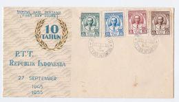 1955 INDONESIA FDC Stamps  TELEGRAPH  TELEPHONE Cover Telecom - Telecom