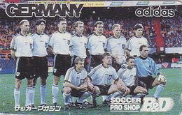 Télécarte Japon / 110-011 -  ADIDAS - FOOTBALL - SOCCER Japan Phonecard - Germany Related Telefonkarte - 15 - Sport