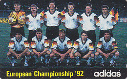 RARE Télécarte Japon / 110-011 - ADIDAS - FOOTBALL - SOCCER CHAMPIONSHIP Japan Phonecard - Germany Rel Telefonkarte - 17 - Sport