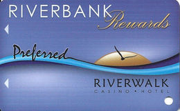 Riverbank Casino - Vicksburg, MS - Blank Slot Card - Casino Cards
