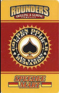 Rounders Grilling & Gaming Co. - Las Vegas, NV - Golden Dollar Rewards Slot Club Card - Casino Cards