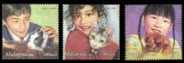 Malaysia Children Pets 2011 Cat Dog Rabbit Puppy Kitty Pet Animal Fauna (stamp) MNH - Malaysia (1964-...)