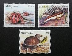 Malaysia Semi Aquatic Animal 2006 Turtle Crab Fauna Wildlife(stamp) MNH - Malaysia (1964-...)