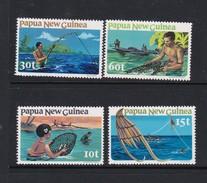 Papua New Guinea SG 417-420 1981 Fishing MNH Set - Papoea-Nieuw-Guinea