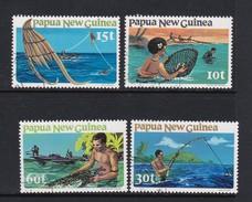 Papua New Guinea SG 417-420 1981 Fishing Used Set - Papua New Guinea