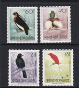 Papua New Guinea SG 650a-650d 1991 Birds Of Paradise Big T MNH Set - Papoea-Nieuw-Guinea