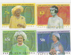 Papua New Guinea SG 888-891 2000 Queen Mother  100th Birthday MNH - Papua New Guinea