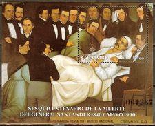 COLOMBIA 1990.05.06 [HF42-1] 150 Años De La Muerte De Francisco De Paula Santander - Souvenir Sheet New - Colombie