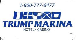 Trump Marina Casino Atlantic City, NJ Key Ring Dangle With Punch Hole In Bottom Corner - Casino Cards