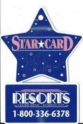 Resorts Casino Atlantic City NJ - Thin Plastic Keyring Dangle - Blank Reverse - Casino Cards