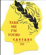 Caesars Casino Atlantic City NJ - Thin Plastic Keyring Dangle - Casino Cards