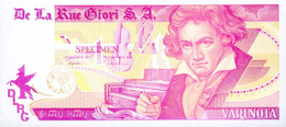 Testgeld  Testnoten Test Note SPECIMEN  De La Rue Giori S.A. ! - Bankbiljetten