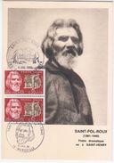 France 1968 Saint-Pol-Roux, Poet Writer, Maximum Card, Marseille - Maximumkarten